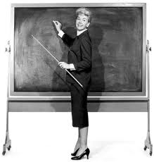 Irene Diamond.com, B&W school teacher