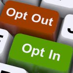 opt out opt in email button