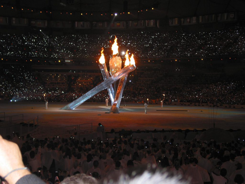 Olympic torches Irene diamond