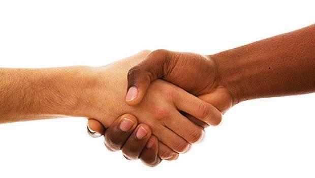 handshake for fundraiser
