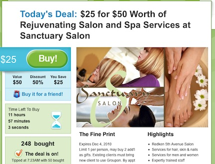 should your business do a groupon offer? sample groupon offer for a massage therapists
