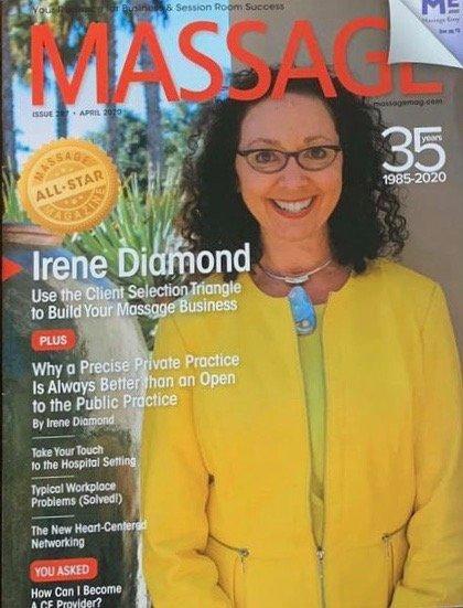 Massage Magazine- Precise Private Practice Irene Diamond magazine cover