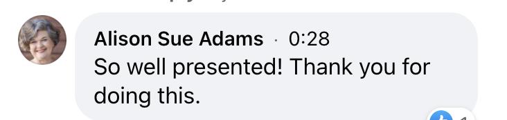 Sue Adams Testimonial